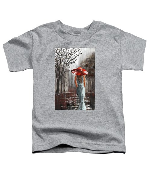 Lady In A Red Hat Toddler T-Shirt