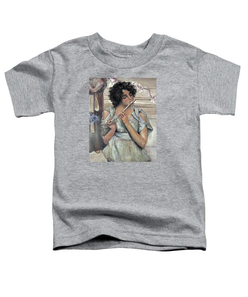 Lady Playing Flute Toddler T-Shirt