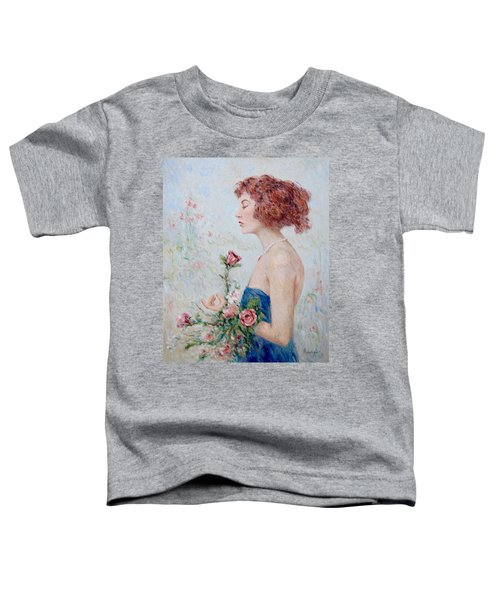 Lady With Roses  Toddler T-Shirt