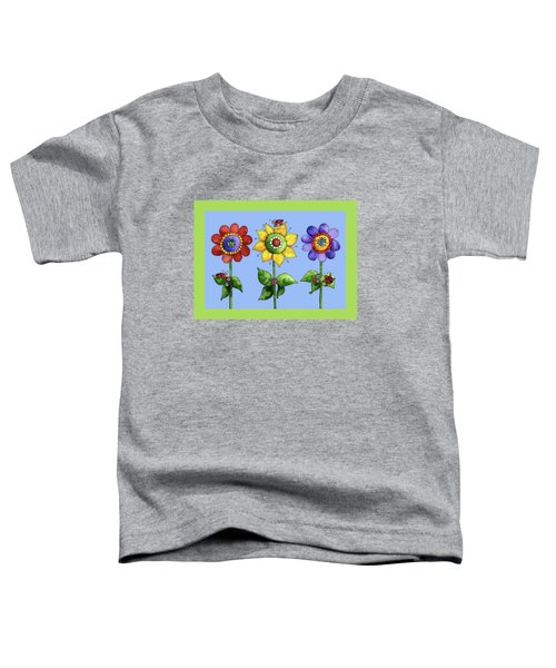 Ladybugs In The Garden Toddler T-Shirt by Shelley Wallace Ylst