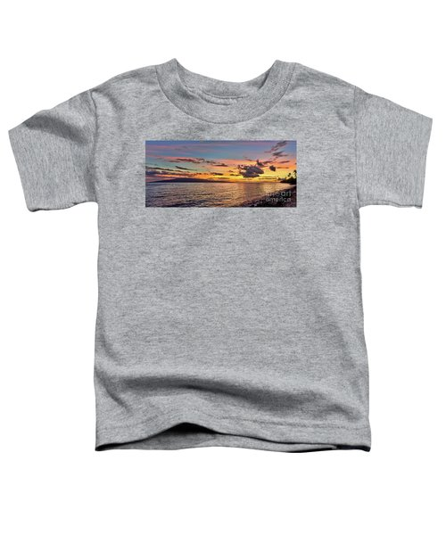 Lahaina Sunset Panorama Toddler T-Shirt