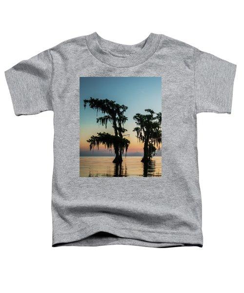 Lake Maurepas Sunrise Triptych No 3 Toddler T-Shirt