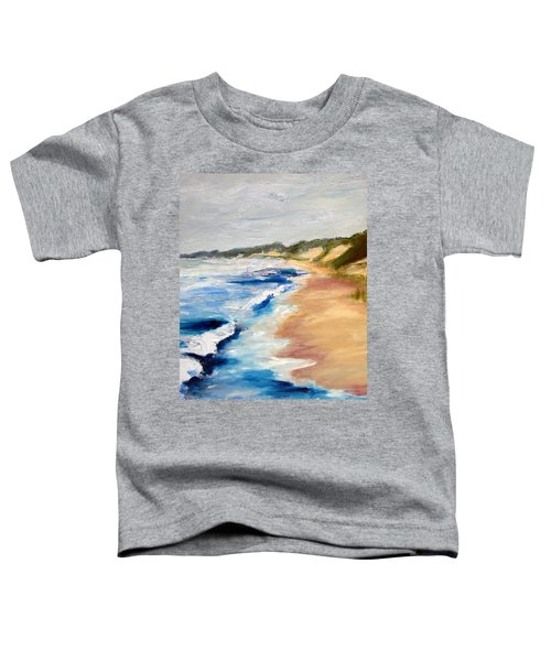 Lake Michigan Beach With Whitecaps Detail Toddler T-Shirt