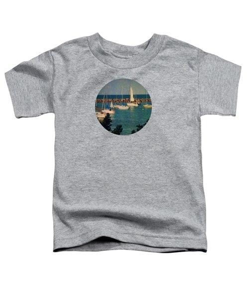 Lake Michigan Sailboats Toddler T-Shirt by Mary Wolf
