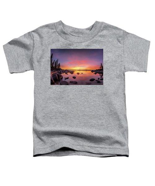 Lake Tahoe Sunset Peace Toddler T-Shirt