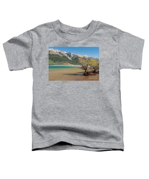 Lake Wakatipu Toddler T-Shirt by Werner Padarin
