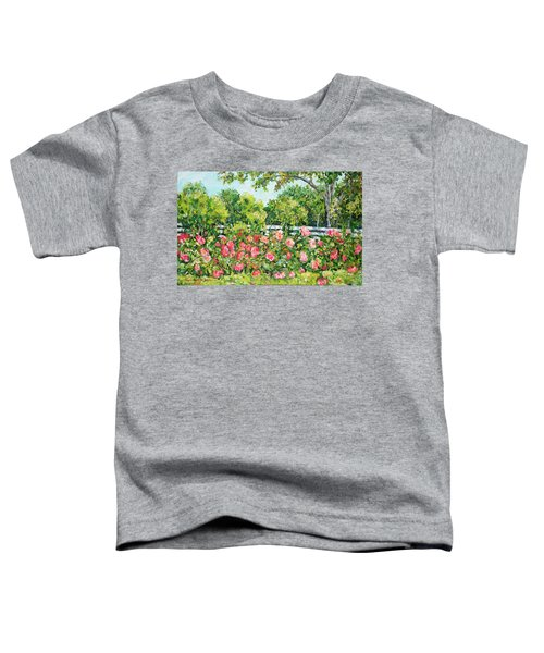 Landscape With Roses Fence Toddler T-Shirt