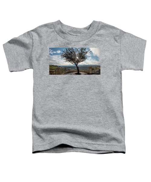 Large Tree Overlooking The City Of Jerusalem Toddler T-Shirt