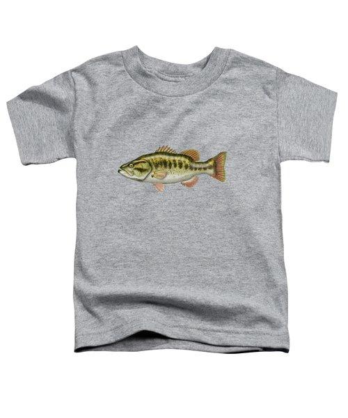 Largemouth Bass Toddler T-Shirt by Serge Averbukh