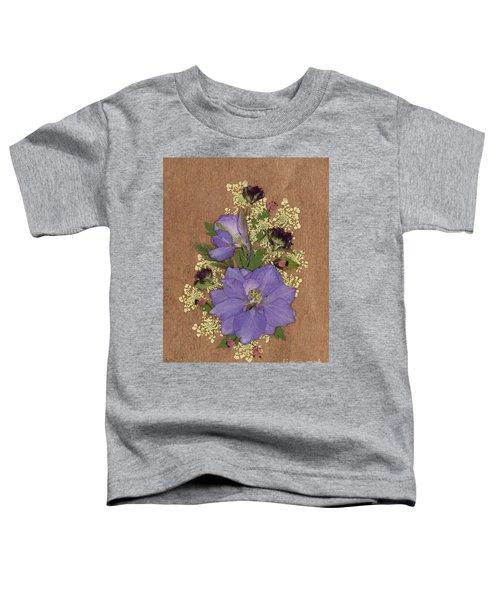 Larkspur And Queen-ann's-lace Pressed Flower Arrangement Toddler T-Shirt