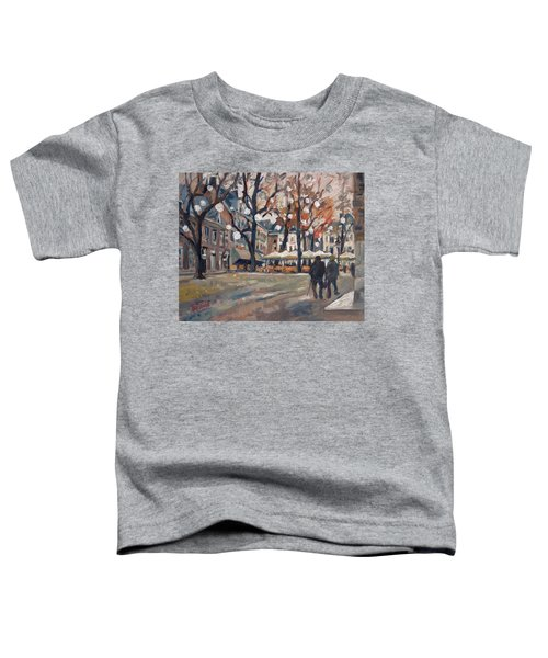 Late November At The Our Lady Square Maastricht Toddler T-Shirt by Nop Briex