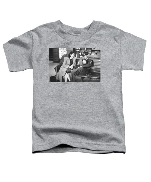 Latino Soldier With Family, 1951 Toddler T-Shirt