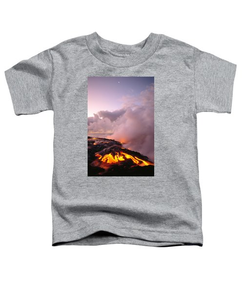 Lava Flows At Sunrise Toddler T-Shirt by Peter French - Printscapes