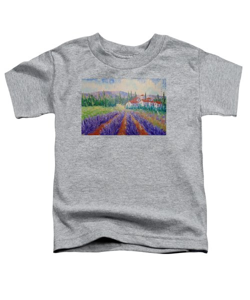 Lavender And Village Of Provence Toddler T-Shirt