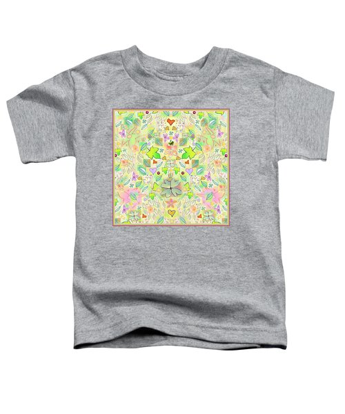 Leaf And Flower And Heart Pattern  Toddler T-Shirt
