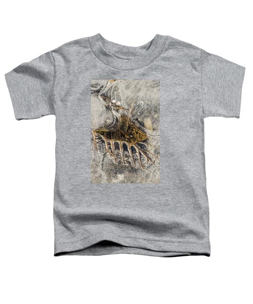 Leaf Veins In Ice Toddler T-Shirt