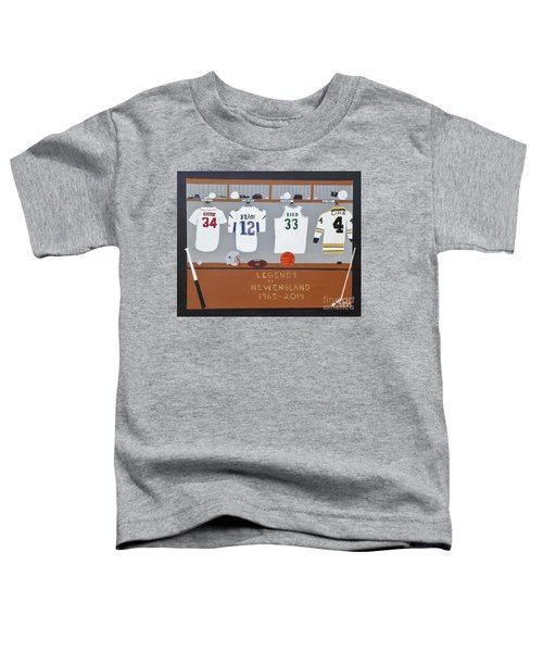 Legends Of New England Toddler T-Shirt by Dennis ONeil