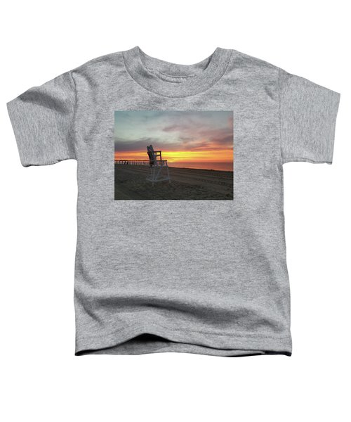 Lifeguard Stand On The Beach At Sunrise Toddler T-Shirt