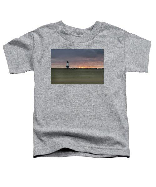 Lighthouse And Sunset Toddler T-Shirt