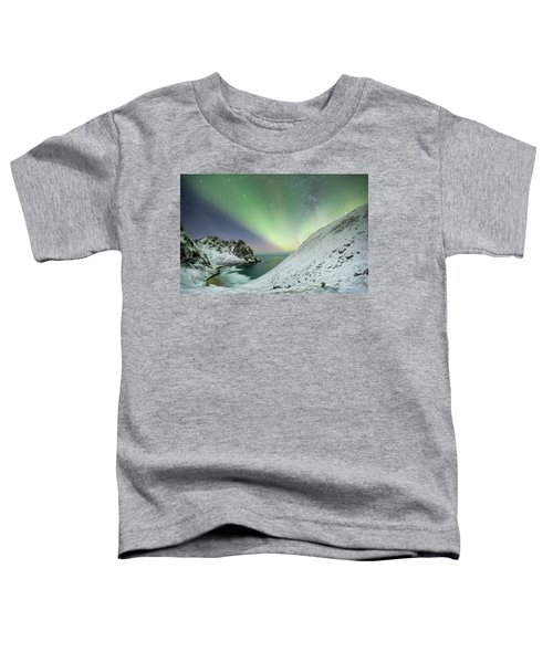 Lights Above Kvalvika Toddler T-Shirt