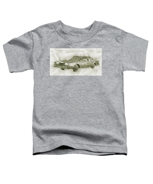 Lincoln Continental Mark V - 1977 - Automotive Art - Car Posters Toddler T-Shirt