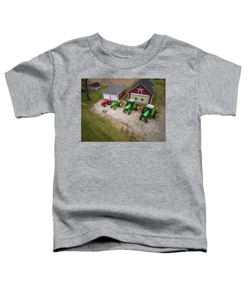 Lining Up The Tractors Toddler T-Shirt