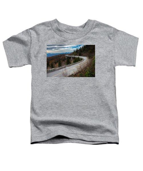 Linn Cove Viaduct Late Fall Toddler T-Shirt