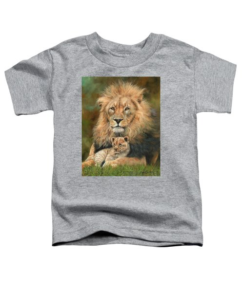 Lion And Cub Toddler T-Shirt