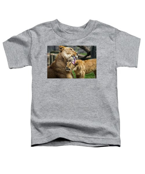 Lion Mother Licking Her Cub Toddler T-Shirt