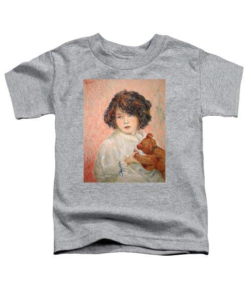 Little Girl With Bear Toddler T-Shirt