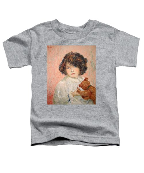 Little Girl With Bear Toddler T-Shirt