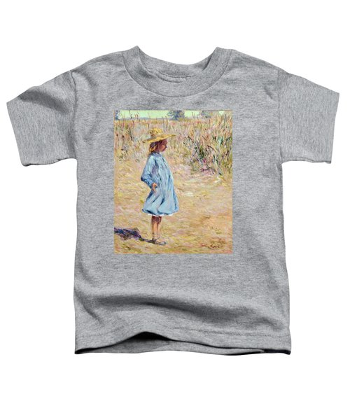 Little Girl With Blue Dress Toddler T-Shirt