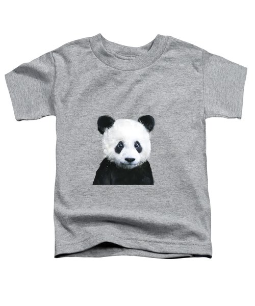 Little Panda Toddler T-Shirt by Amy Hamilton