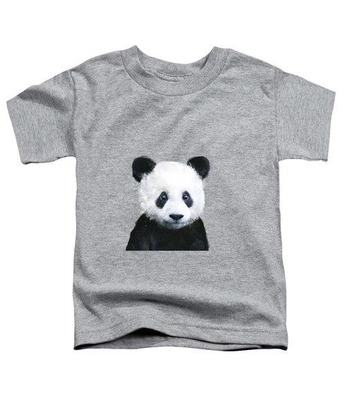 Little Panda Toddler T-Shirt by Amy Hamilton