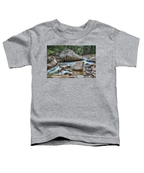 Toddler T-Shirt featuring the photograph Little Pine Tree Stream View by James BO Insogna