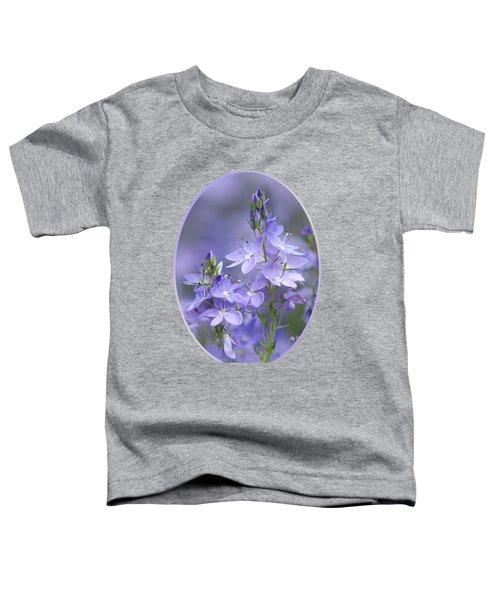 Little Purple Flowers Vertical Toddler T-Shirt