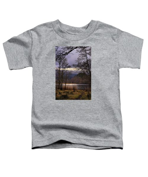 Toddler T-Shirt featuring the photograph Loch Venachar by Jeremy Lavender Photography