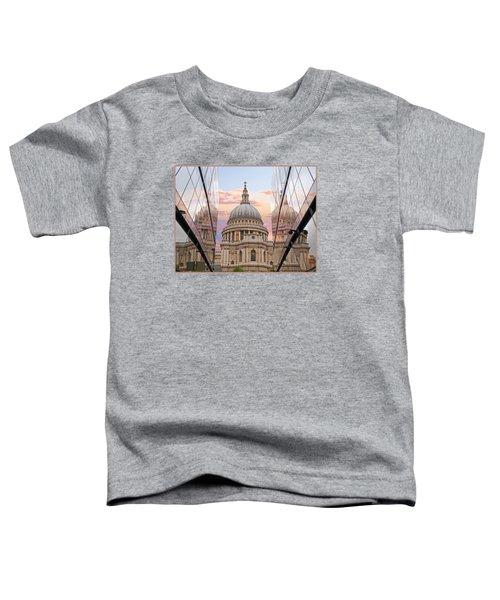 London Awakes - St. Pauls Cathedral Toddler T-Shirt by Gill Billington