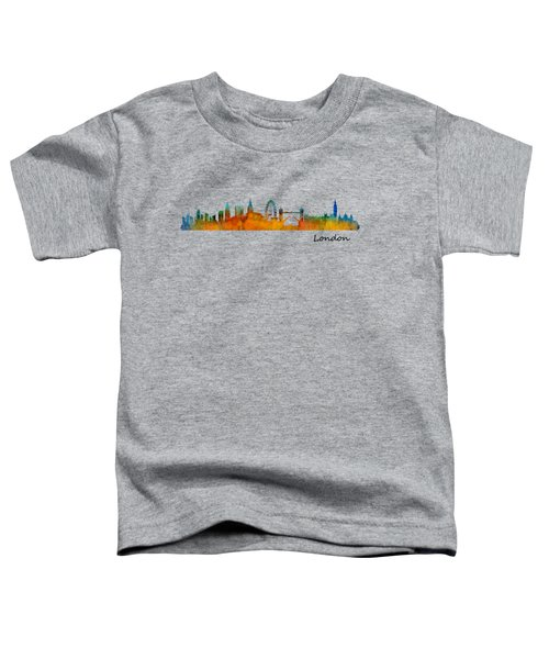 London City Skyline Hq V1 Toddler T-Shirt by HQ Photo
