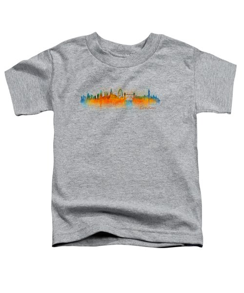 London City Skyline Hq V3 Toddler T-Shirt by HQ Photo