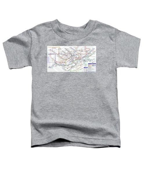 London Underground Map Toddler T-Shirt