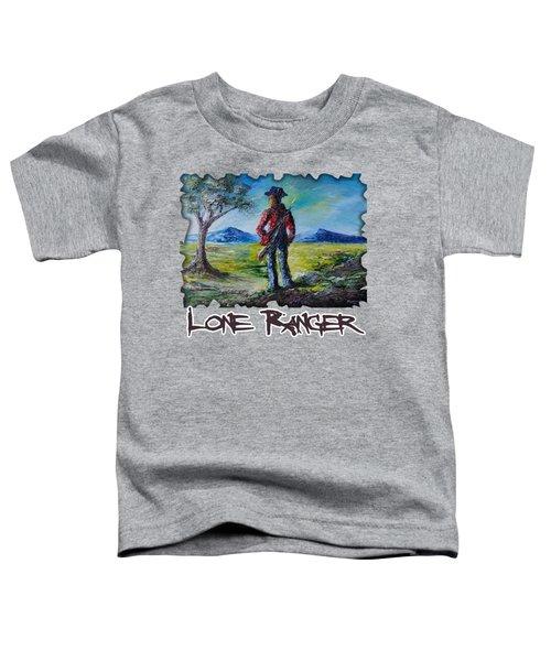 Lone Ranger On Foot Toddler T-Shirt