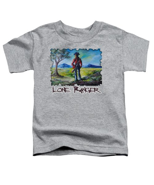 Lone Ranger On Foot Toddler T-Shirt