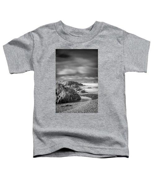 Long Exposure Of A Shingle Beach And Rocks Toddler T-Shirt