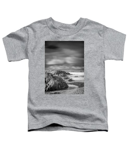 Long Exposure Of A Shingle Beach And Rocks Toddler T-Shirt