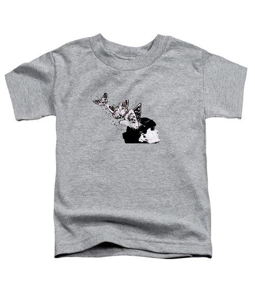 Long Gone Whisper II - Street Art Graffiti Painting, Girl With Butterflies Toddler T-Shirt