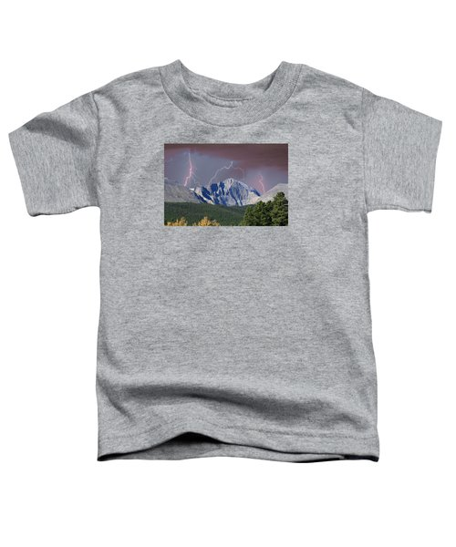 Longs Peak Lightning Storm Fine Art Photography Print Toddler T-Shirt by James BO  Insogna