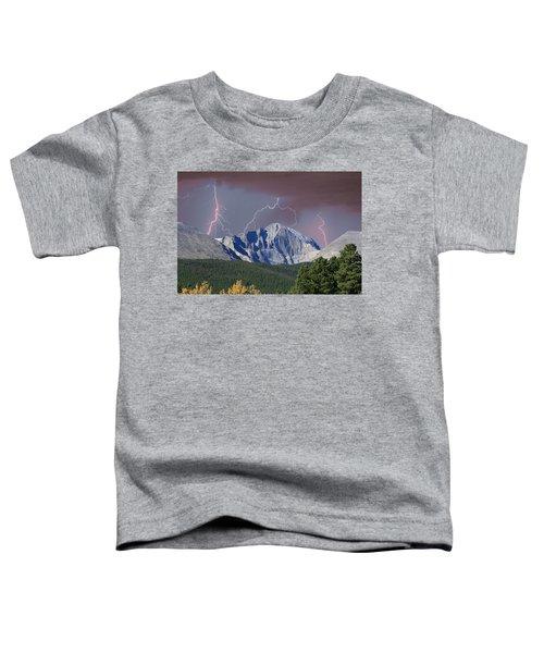 Longs Peak Lightning Storm Fine Art Photography Print Toddler T-Shirt
