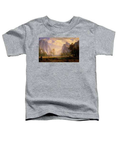 Looking Up The Yosemite Valley  Toddler T-Shirt