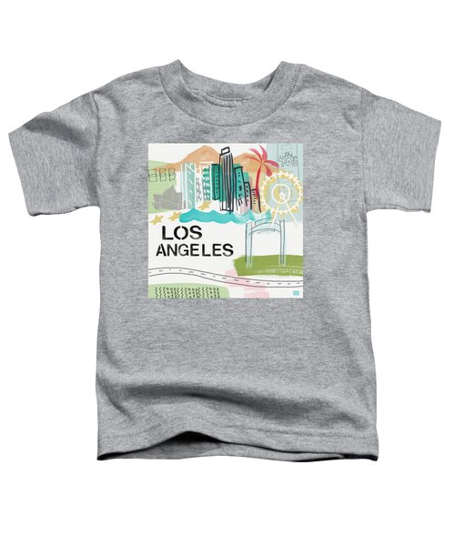 Los Angeles Cityscape- Art By Linda Woods Toddler T-Shirt